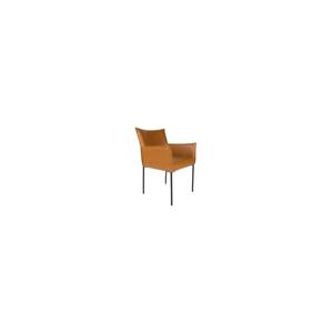 Koňakovohnedá jedálenská stolička Dion