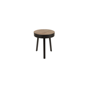 Odkladací stolík z teakového dreva White Label Suri Round