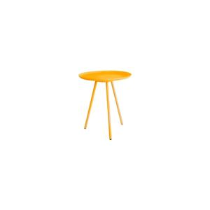 Žltý odkladací stolík White Label Frost