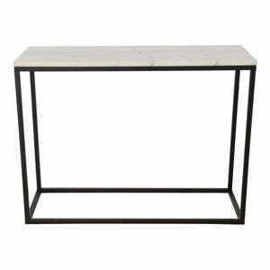 Mramorový konferenčný stolík s čiernou konštrukciou RGE Accent, šírka 100 cm