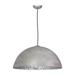 Sivo-strieborné stropné svietidlo ETH Mezzo Tondo, ⌀ 70 cm