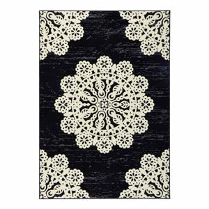 Čierny koberec Hanse Home Gloria Lace, 200 x 290 cm
