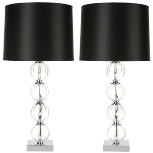 Sada 2 stolových lámp s čiernym tienidlom Safavieh Giulia