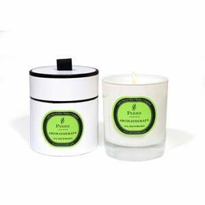 Sviečka s vôňou limetky, bazalky a mandarínky Parks Candles London Aromatherapy, 50hodín horenia