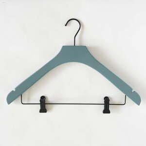 Sivo-zelený drevený vešiak s 2 klipsami Compactor Hang&Keep