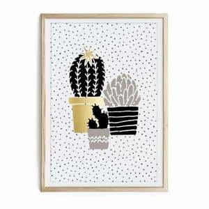 Zarámovaný plagát Really Nice Things Cactus Family, 40 x 60 cm
