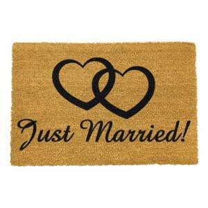 Rohožka z prírodného kokosového vlákna Artsy Doormats Just Married, 40 x 60 cm