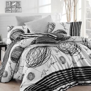 Bavlnené obliečky s plachtou na jednolôžko Nazenin Home Blacky, 160×220 cm