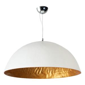 Bielozlaté stropné svietidlo ETH Mezzo Tondo, ⌀ 70 cm