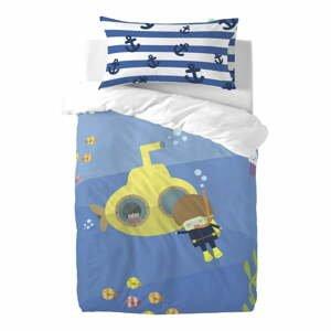 Detské obliečky z čistej bavlny Happynois Yellow Submarine, 100×120 cm