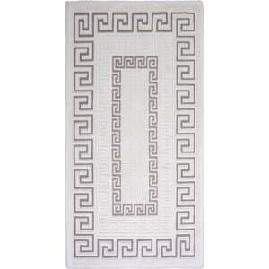 Sivo-béžový bavlnený koberec Vitaus Versace, 100×150cm