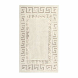 Krémovobiely odolný koberec Vitaus Versace, 120×180cm