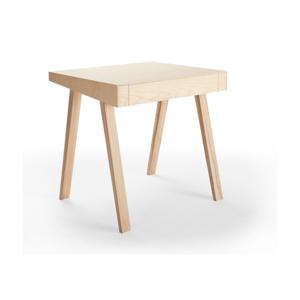 Písací stôl z európskeho jaseňa EMKO 4.9, 1 zásuvka