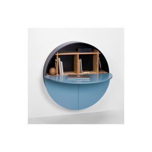 Modro-čierny multifunkčný nástenný stôl EMKO Pill