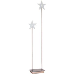 Medená LED svetelná dekorácia Best Season Karla Duo, výška 72 cm