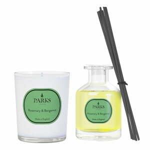 Darčeková súprava sviečky a difúzora Parks Candles London Vintage Aromatherapy, vôňa rozmarínu