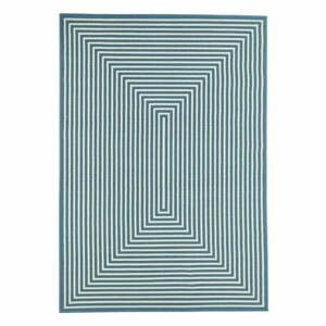 Modrý vonkajší koberec Floorita Braid, 200×285 cm