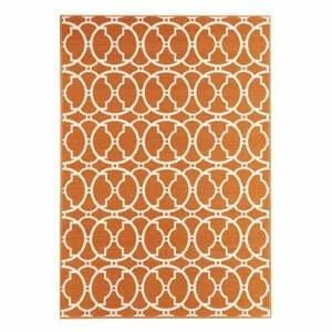 Oranžový vonkajší koberec Webtappeti Interlaced, 160×230 cm