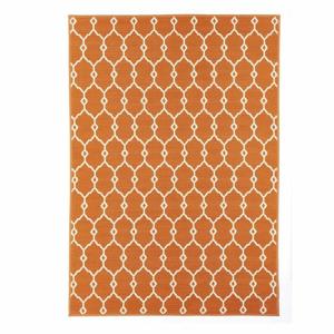 Oranžový vonkajší koberec Floorita Trellis, 133×190 cm