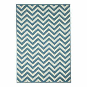 Svetlomodrý vonkajší koberec Floorita Waves, 133×190 cm