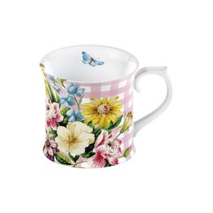 Kvetinový porcelánový hrnček Creative Tops English Garden, 350 ml