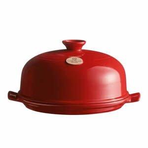 Červená keramická okrúhla forma na pečenie chleba Emile Henry, ⌀28,5cm