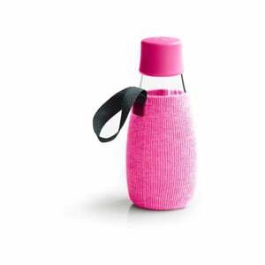 Ružový obal na sklenenú fľašu ReTap s doživotnou zárukou, 300 ml