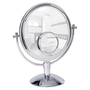 Chrómované kozmetické stojacie zrkadlo Wenko Grando, výška 37cm