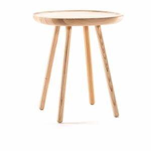 Prírodný odkladací stolík z masívu EMKO Naïve Small, ø45cm