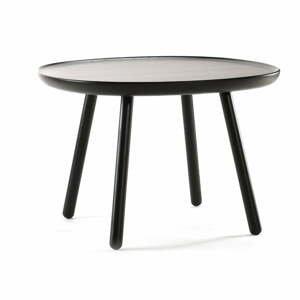 Čierny odkladací stolík z masívu EMKO Naïve Large