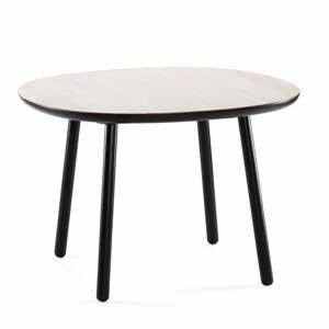Čierno-biely jedálenský stôl z masívu EMKO Naïve, 110 cm