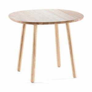 Prírodný jedálenský stôl z masívu EMKO Naïve, 90cm