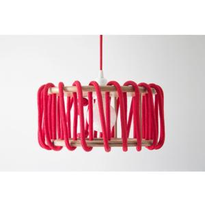 Červené stropné svietidlo EMKO Macaron, 45 cm