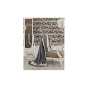 Prikrývka cez posteľ Baliksirti Black, 200x240 cm