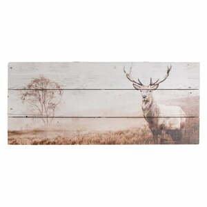Drevený obraz Graham&Brown Stag,70×30cm