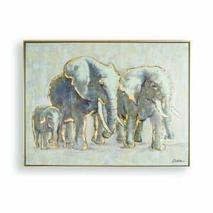 Ručne maľovaný obraz Graham&Brown Elephant Family, 80×60cm