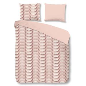 Ružové obliečky na dvojlôžko z bavlny Good Morning Emerged, 200×200 cm