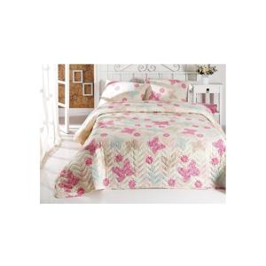Sada prikrývky cez posteľ a obliečky na vankúš Papillon, 160×220 cm