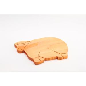 Doska na krájanie z bukového dreva Bisetti Sheep, 34 × 29 cm
