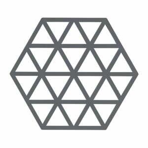 Sivá silikónová podložka pod horúce nádoby Zone Triangles