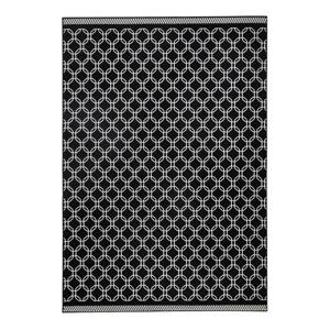 Čierny koberec Zala Living Chain, 200×290cm
