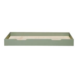 Zelená spodná zásuvka pre posteľ WOOOD Nikki, 200 x 90 cm