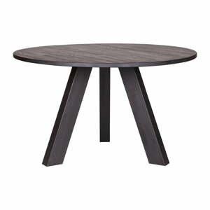 Čierny jedálenský stôl z dubového dreva WOOOD Rhonda, Ø 129cm