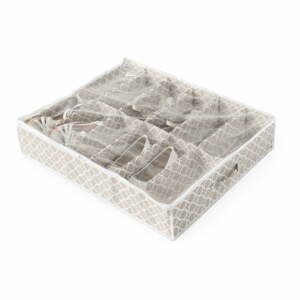 Béžový úložný box na topánky pod posteľ Compactor, dĺžka76cm