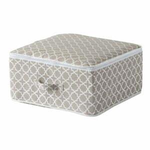 Béžový úložný box so zipsom Compactor, dĺžka46 cm