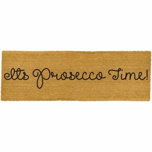 Dlhá rohožka z prírodného kokosového vlákna Artsy Doormats Prosecco Time, 120 x 40 cm