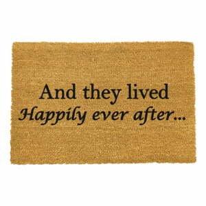 Rohožka z prírodného kokosového vlákna Artsy Doormats Happily Ever After, 40 x 60 cm
