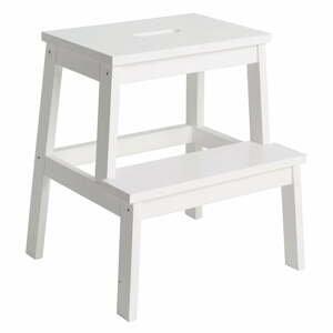 Biela stolička/schodíky Rowico Nanna