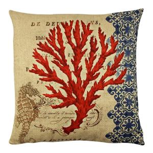 Vankúš s výplňou Gravel Red Tree II, 43×43cm