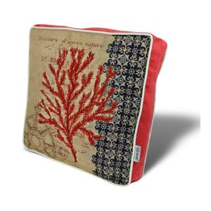 Vankúš na sedenie s výplňou Gravel Red Tree II, 42×42cm